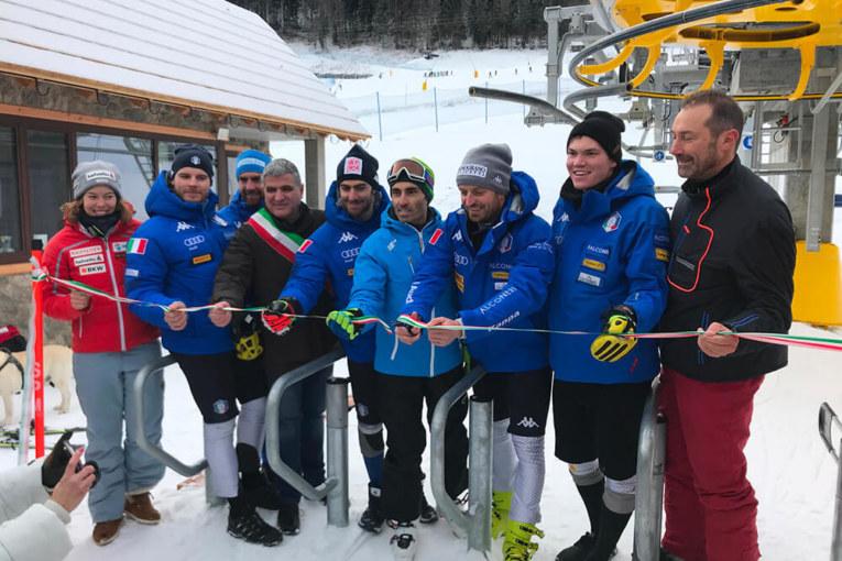 Inaugurazione seggiovia Nuova Tarvisio con nazionale azzurra di slalom