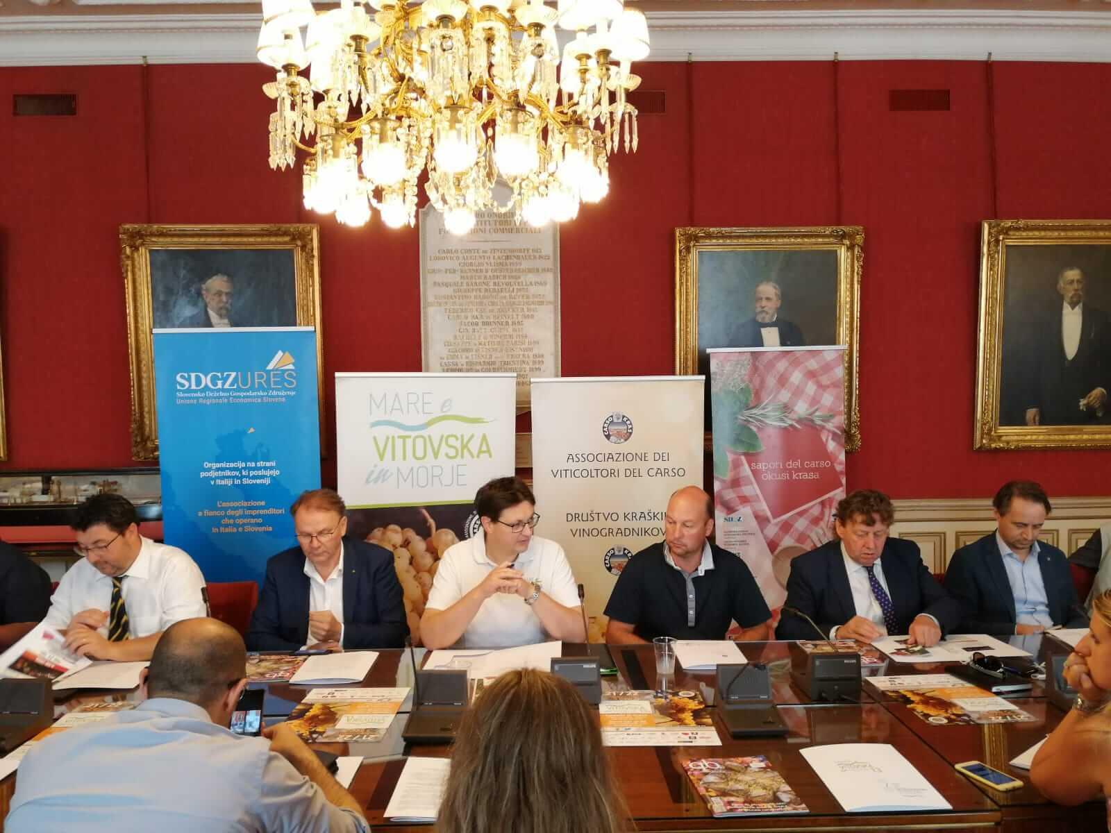 Presentata a Trieste presso la Camera di commercio, la 13. edizione di Mare e Vitovska