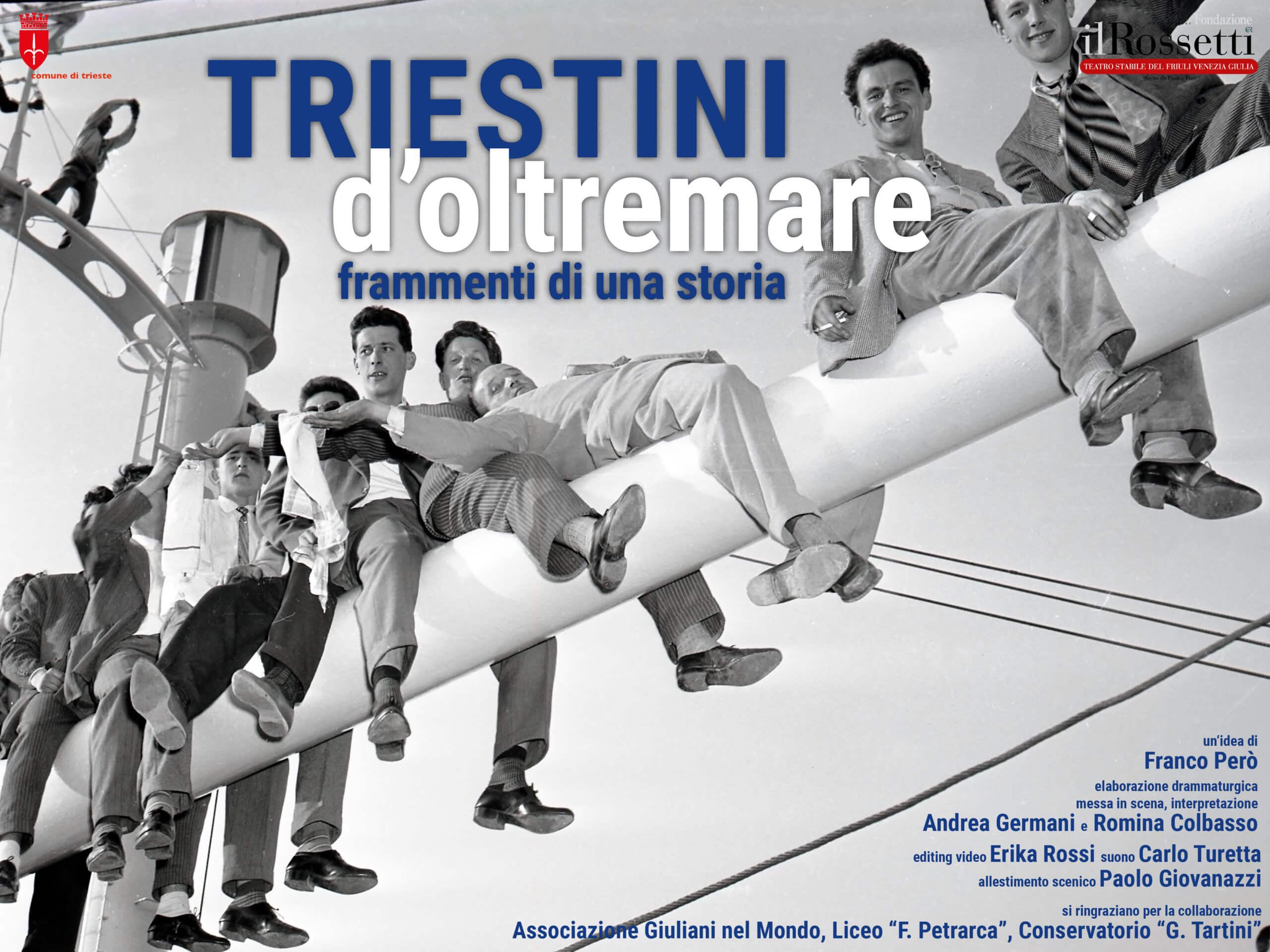 """""""Triestini d'Oltremare"""" dal 5 al 19 dicembre in scena al Magazzino 26 del Porto Vecchio di Trieste"""