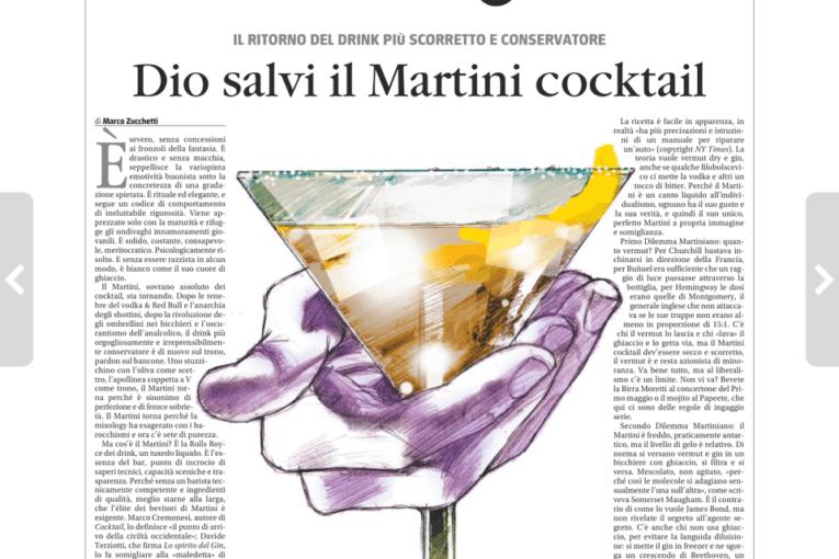 DIO SALVI IL MARTINI COCKTAIL da Il Giornale del 15 febbraio 2020 di Marco Zucchetti