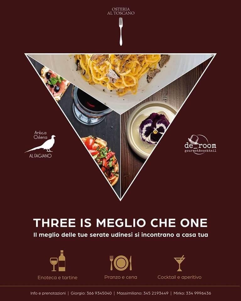 THREE IS MEGLIO CHE ONE!